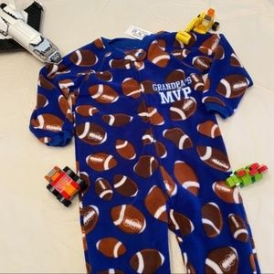 Children's Place Footie Pajamas with Footballs